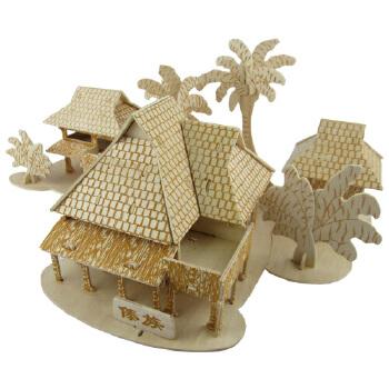 手工制作礼物中国古建筑模型