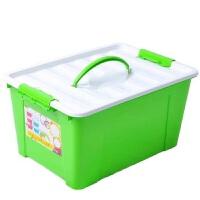 洛可可 紧扣手提整理箱 文具收纳箱 大号 22L 塑料 收纳箱子 LCC5115 颜色随机
