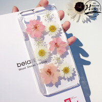 硬壳 永生花iphone6s/6/plus手机壳 苹果5s保护套4.7创意透明防摔
