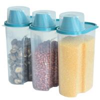 百露塑料加大2.5L透明食品级PP收纳罐五谷杂粮储物罐厨房密封罐米桶
