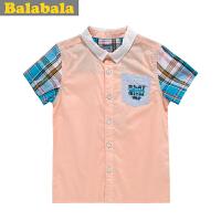 巴拉巴拉 balabala 童装 男幼童短袖衬衫夏装上新