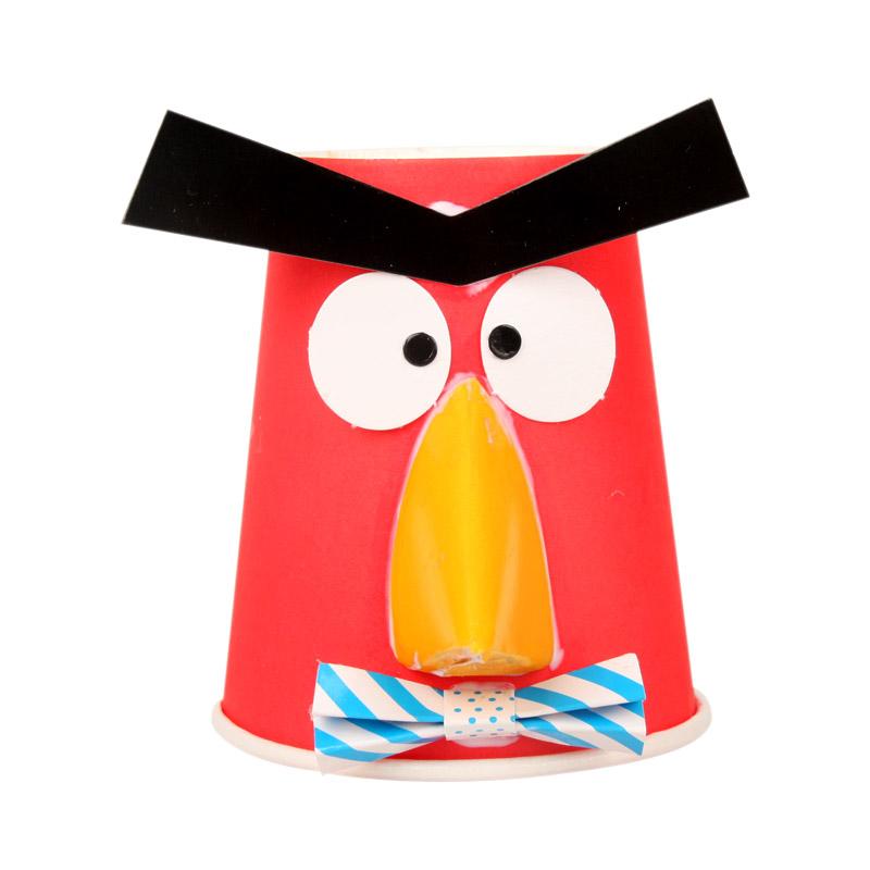 新年礼物动物纸杯材料包批发幼儿园手工挂件吊饰diy儿童创意粘贴ef25