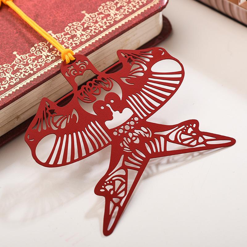 碳墨轩 窗花系列 红色风筝 创意书签 当当自营