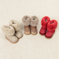 davebella戴维贝拉女童冬季新款宝宝加绒保暖雪地靴