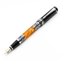 正品HERO英雄钢笔1023亚克力黑亮铱金笔钢笔 墨水笔 高档礼盒礼品