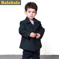 5.25抢购价:120元 巴拉巴拉balabala童装男童呢衣幼童宝宝上衣儿童冬装新款