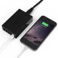 【包邮】Aukey 5口USB充电器 40W苹果iphone6三星ipad充电器 多口充电头 安卓充电器 充电器头