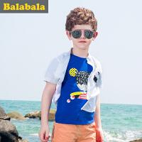 【6.26巴拉巴拉超级品牌日】巴拉巴拉男童短袖t恤中大童上衣童装夏装儿童学生T恤男时尚