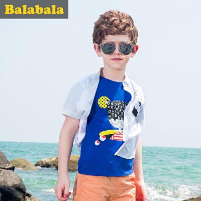 巴拉巴拉 男童短袖t恤 中大童上衣童装夏装儿童学生T恤男时尚