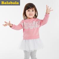 巴拉巴拉童装女童连衣裙小童裙子宝宝公主裙春秋装儿童淑女裙