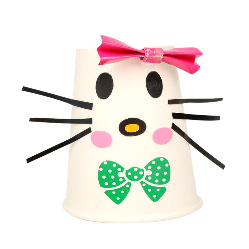 纸杯材料包批发幼儿园手工挂件吊饰diy儿童创意粘贴ef25631_小猫咪