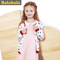 巴拉巴拉balabala童装女童毛衫中大童毛衣儿童秋 装 新款