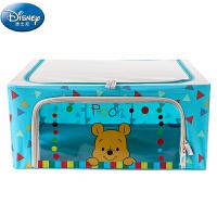[当当自营]迪士尼Disney正品 44L 小熊维尼D-452(蓝色)牛津布折叠收纳箱 整理箱 收纳盒