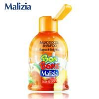 Malizia玛莉吉亚 棒棒糖洗发沐浴露二合一(牛奶鲜桃香型)500ml
