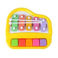 宝丽欢乐小木琴敲琴 幼儿童手敲琴婴儿宝宝音乐玩具1-2-3岁 AF25392