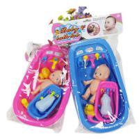 儿童过家家玩具仿真加大号双浴盆娃娃公仔游泳洗澡戏水玩具 包邮
