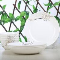 [当当自营]SKYTOP斯凯绨 陶瓷高档骨瓷餐具套装 8头永恒玫瑰圆形