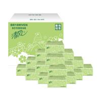 [当当自营] 清风 抽纸卫生纸 绿花 2层200抽20包 抽取式面纸巾(整箱装)