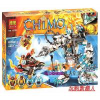 欢乐童年-博乐CHIMA气功传奇赤马神兽 冰熊王的机甲巨熊拼装积木10355新品
