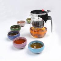 尚帝 36计玻璃飘逸杯6个多彩冰裂杯 茶具套装BH2015-XM070