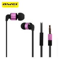【正品包邮】Awei/用维 600i耳机入耳式金属重低音手机小米魔音面条式正品