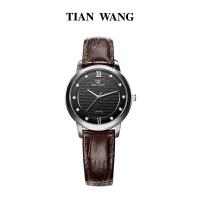天王表女士石英表皮带款超薄手表时尚女表LS3803黑
