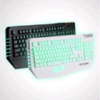 (达尔优) 审判者 游戏键盘 白色 USB有线三色背光键盘  19键无冲  机械手感游戏键盘  全新盒装正品行货