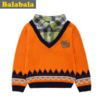 巴拉巴拉balabala童装男童毛衫幼童宝宝上衣2015儿童冬装新款