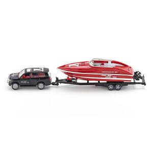 [当当自营]siku 德国仕高 1:55 轿车 带快艇 合金车模玩具 U2543