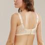 依曼丽无钢圈蕾丝聚拢美背性感深V调整型女薄款小胸内衣DYK6107