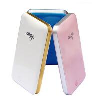 【当当热卖+送布包】 aigo E100 移动电源轻薄薄锂聚合物电池芯大容量10000毫安MA充电宝充电器 三星 苹果5S 苹果6PLUS 小米 HTC手机通用型便携式随身充苹果平板电脑