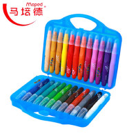 MAPED马培德24色丝滑炫彩棒 彩色旋转油画棒 儿童画笔塑料盒装