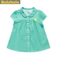 巴拉巴拉童装女童公主短袖衬衫幼童宝宝半袖上衣儿童夏装新款