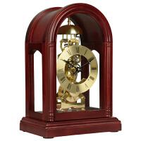 汉时钟表 座钟 欧式复古整点打铃 客厅高档创意实木座钟HD13