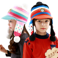 儿童帽子冬女童帽子宝宝帽子秋冬小孩帽子护耳帽2-4-8岁男童帽子