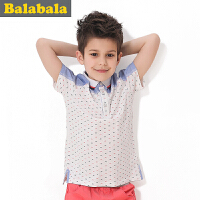 巴拉巴拉童装男童休闲撞色Polo衫中大童短袖t恤儿童夏装新款