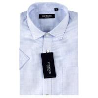 雅戈尔旗舰店商务正装新款男夏紫色格子免烫短袖衬衫SDP12107LBY