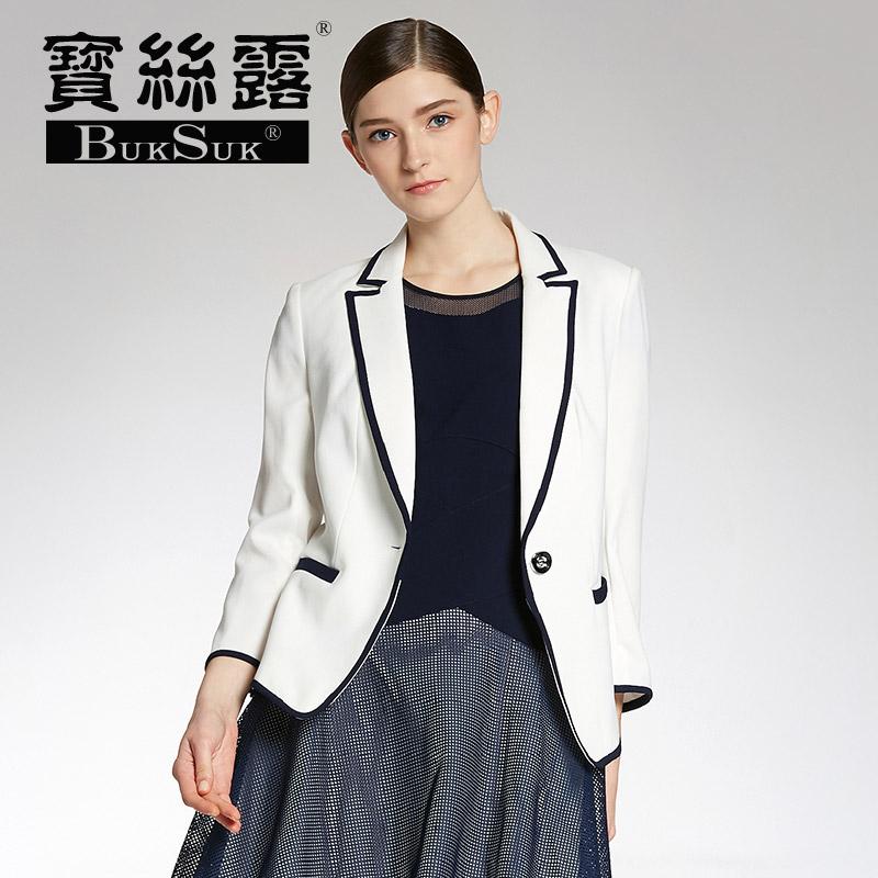 时尚简约欧美修身显瘦通勤西装外套