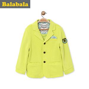 【6.26巴拉巴拉超级品牌日】巴拉巴拉童装男童西服 小童宝宝上衣 春装 儿童短款休闲外套