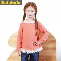 巴拉巴拉童装女童毛衫中大童儿童秋装新款