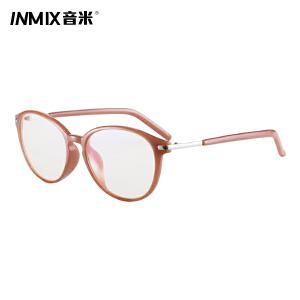 INMIX音米秋冬季新款超轻圆形全框眼镜架女 可配近视眼镜框男2358
